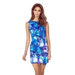 MM004-1 - dámské šaty modré květy