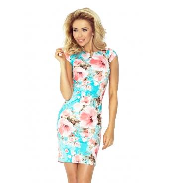 132-8-dámské šaty broskvový květ