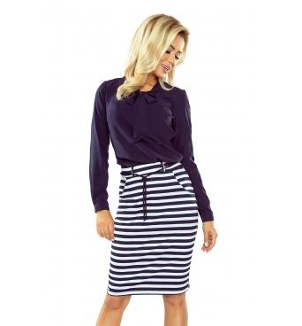 127-5 - dámská sukně námořnický proužek krátká