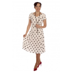 "S 1/1 - dámské šaty ""Pretty woman"" bílé"