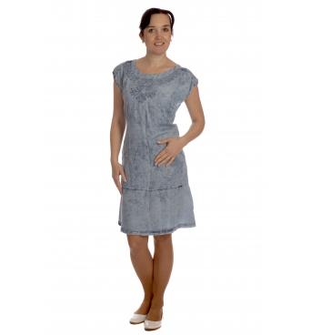 Rozeta -  lehké bavlněné šaty s výšivkou