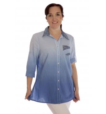 Drum 2- dámská košile modré odstíny