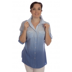Drum 4 - dámská košile modré odstíny