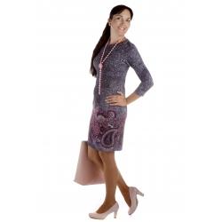 MD1606-95 - dámské šaty florální vzor