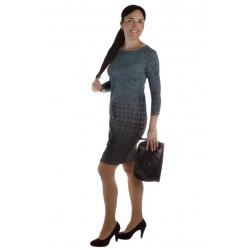 MD1606-25 - dámské tyrkysové šaty