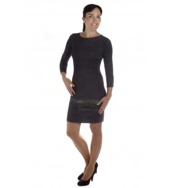 MD1606-51 - dámské šaty zelený pruh