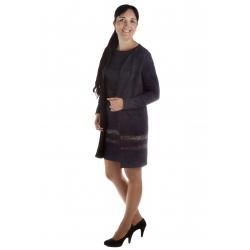 MD1606-52 - dámské šaty okrový pruh