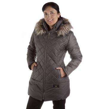 Pikowka - dámská delší bunda s kožíškem