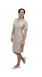 A3001 - dámské bavlněné šaty s květy