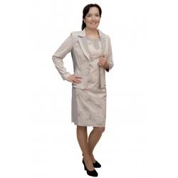 A1036 - dámské béžové bavlněné sako