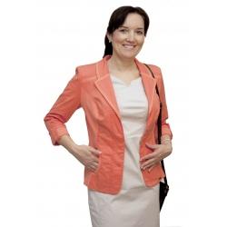 A1049 - dámské bavlněné sako oranžové