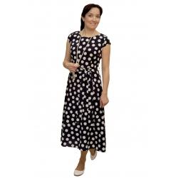 Iwa - dámské dlouhé šaty s puntíky