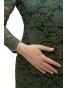 NM 180-3 - dámské krajkové šaty tmavě zelené