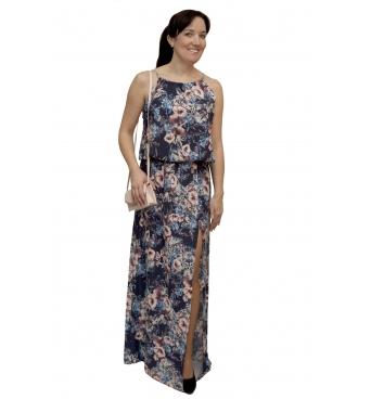 NM 191-2 - dámské maxi šaty  modré