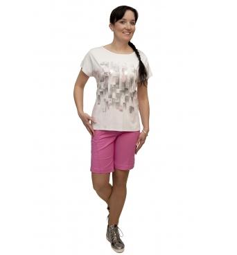 W 525 - dámské tričko vzor bílé