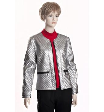 D3515 - Kabátek stříbrný