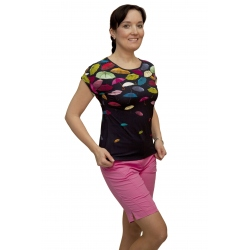 K 019-102T - dámské tričko barevné deštníky