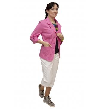 AST 1055 - dámské  bavlněné sako malina
