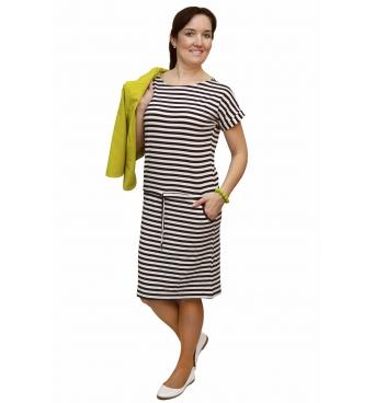 NM 1392-2 - dámské šaty námořnický proužek