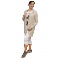 AL 4429 - dámský dlouhý  přírodní kardigan