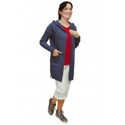 AL 4429 - dámský  dlouhý modrý kardigan