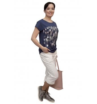 W 525 - dámské tričko vzor modré