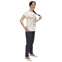 W 525 - dámské tričko vzor smetanové