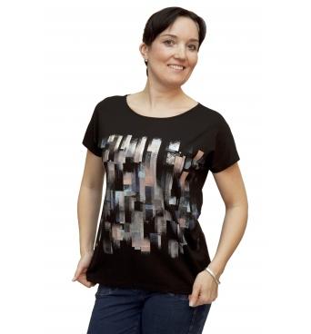 W 525 - dámské tričko vzor černé