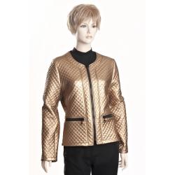 D3513 A - dámský kabátek zlatý