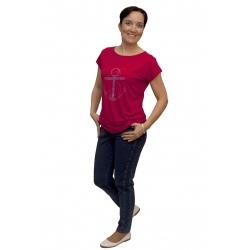 M9230 - dámské tričko kotva červené
