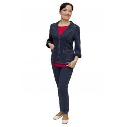AST1055J+2028J - dámský džínový kalhotový kostým