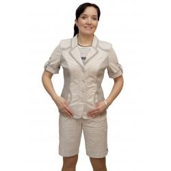 AST1051 - dámské bavlněné sako krátký rukáv