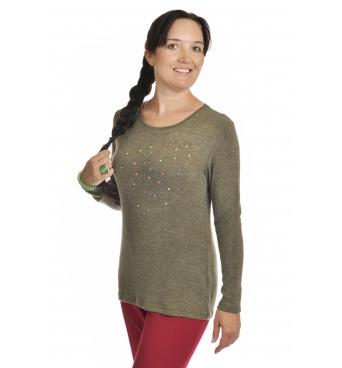 K019-505 - dámský svetřík s barevnou aplikací