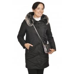 Stella - dámská zimní  bunda s pravým kožíškem