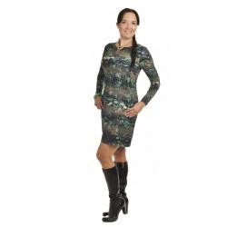 K019-576S - dámské šaty zelené květy v pruzích