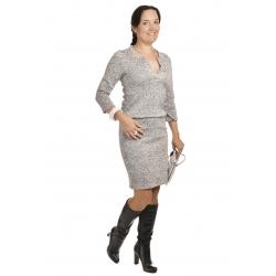 NM 161-14 - dámské šaty tmavě šedá melanž