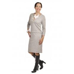 NM 161-3 - dámské šaty světle šedá melanž