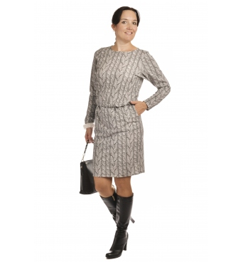 NM172-1 - dámské šaty s copánky