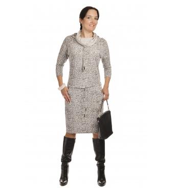 NM 44-4 - dámské šaty světle šedé nápisy