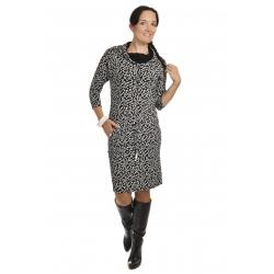 NM 44-14 - dámské šaty černobílý  Tetris