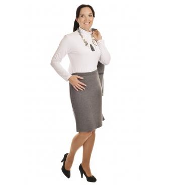 AL1750 - dámská  sukně do gumy  světle šedá