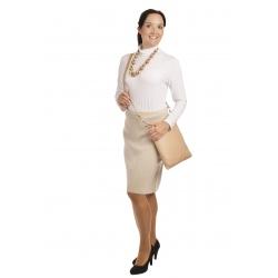 AL1750 - dámská  sukně do gumy světlý béž