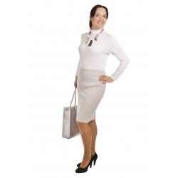 AL1767 - dámská  sukně do gumy světle šedá