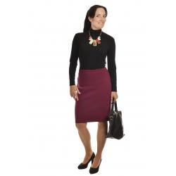 AL387 - dámská  sukně do gumy vínová