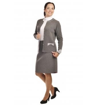 AL1981+387 - dámský elegantní úpletový kostým