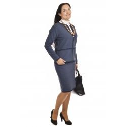 AL1157+58 - dámský elegantní úpletový kostým vzor