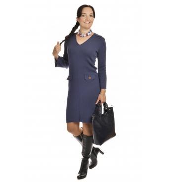 M1704 - dámské šaty Pagony modré