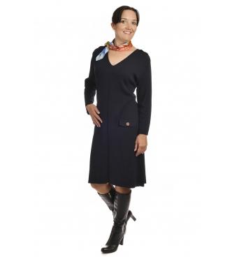 M1704 - dámské šaty Pagony tmavě  modré