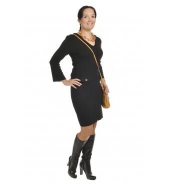 M1704 - dámské šaty Pagony černé