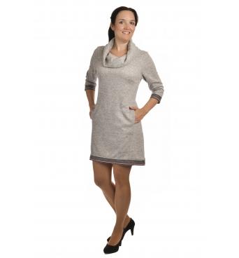 Lampas - dámské šaty světle šedé
